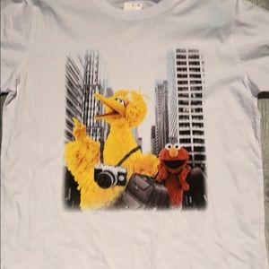 Target Tops - T-shirt with big bird and Elmo